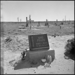 Amache Cemetery Gravesite of Mrs. Sho Fujiu from Los Angeles, California, circa 1944.
