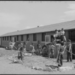 Amache Elementary children landscaping the grounds on 24 April 1943