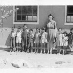 School Amache 1944 - Teacher Miss Smith.