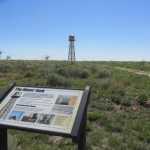 "Present Day Amache ""Water Tank"" Sign and Restored Water Tower"