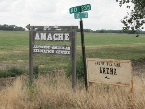 Amache sign. Photo courtesy Kirsten Leong.