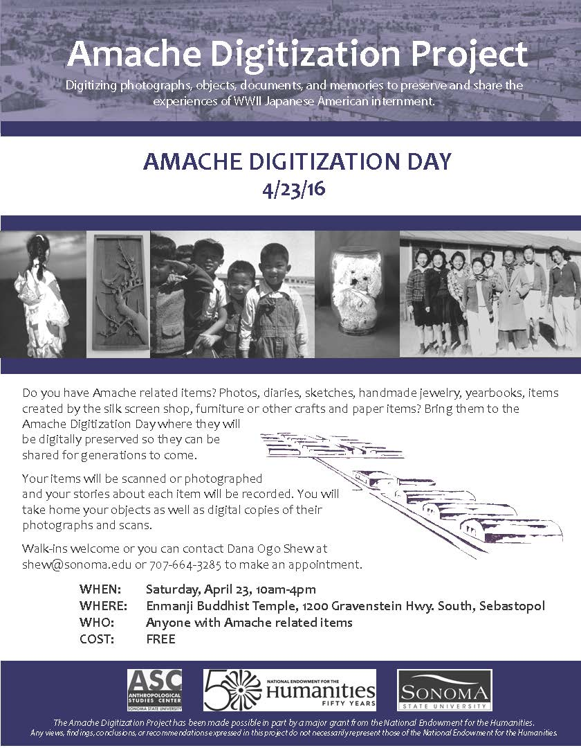 Amache Digitization Project flyer