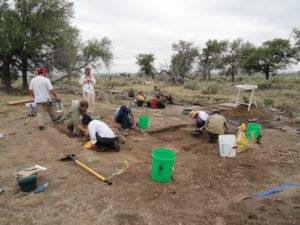 2012 DU Field School Excavating Block 11H. Photo courtesy Kirsten Leong.