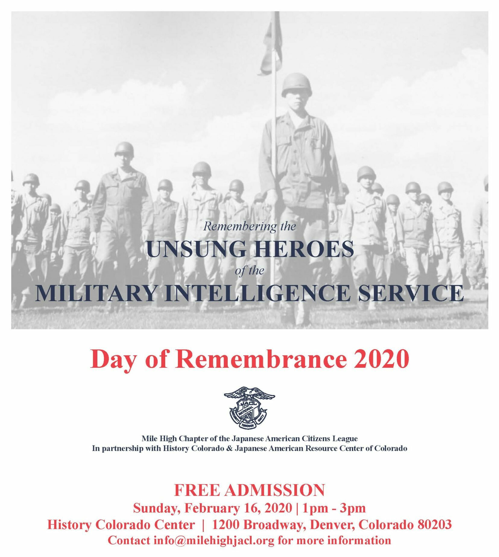 Day of Remembrance 2020 Poster